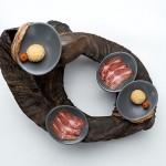 Gericht Luftgetrocknetes Heidschnuckenfleisch und Ziegenfrischk