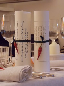 Speise und Wein
