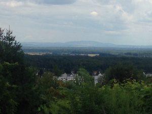 Blick auf Seeheim und den Pfälzer Wald