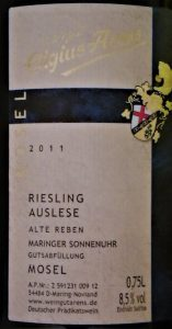 Weinberatung. Riesling Auslese Arens