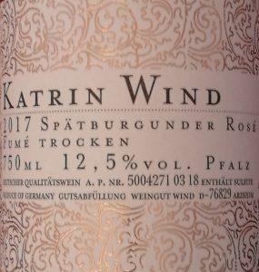 Katrin Wind Rosé Fume