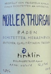 Müller-Thurgau, Rinklin