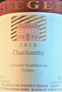 Chardonnay Seeger